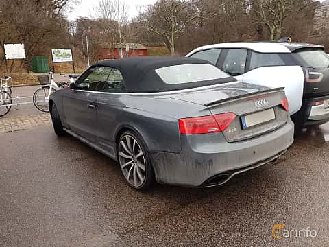 Back/Side of Audi RS 5 Cabriolet 4.2 FSI V8 quattro S Tronic, 450ps, 2014