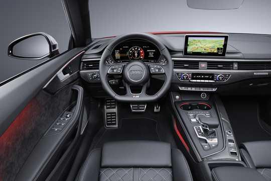 Interior of Audi S5 Cabriolet 3.0 TFSI V6 quattro TipTronic, 354hp, 2017