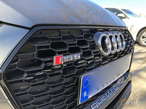 Close-up of Audi RS 5 Coupé 2.9 V6 TFSI quattro TipTronic, 450ps, 2018