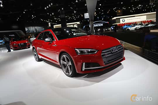 Fram/Sida av Audi S5 Coupé 3.0 TFSI V6 quattro TipTronic, 354ps, 2017 på North American International Auto Show 2017