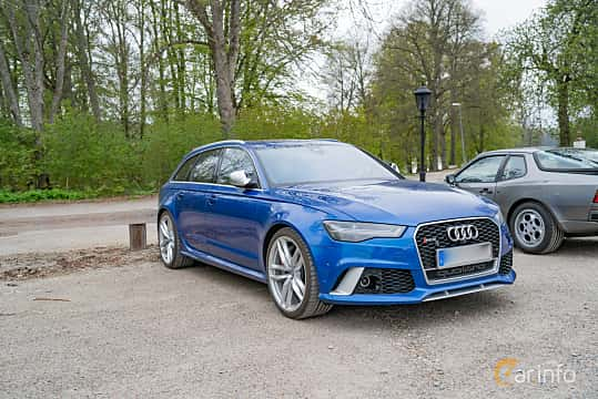 Front/Side  of Audi RS 6 Avant Performance 4.0 TFSI V8 quattro TipTronic, 605ps, 2016 at Fest För Franska Fordon  på Taxinge slott 2019