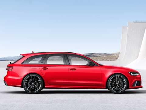 Side  of Audi RS 6 Avant 4.0 TFSI V8 quattro TipTronic, 560hp, 2016