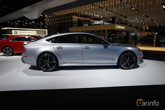 Sida av Audi RS 7 Sportback 4.0 V8 TFSI quattro TipTronic, 560ps, 2017 på North American International Auto Show 2017