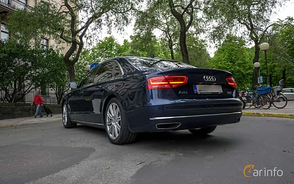 Back/Side of Audi A8 L W12 6.3 W12 FSI quattro TipTronic, 500ps, 2012
