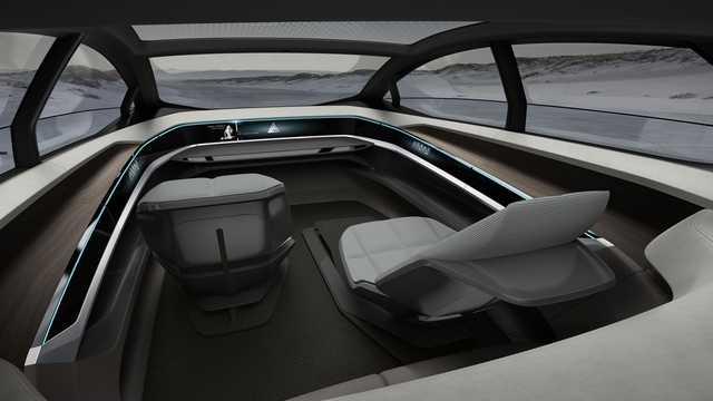 Interior of Audi Aicon Electric quattro Single Speed, 353hp, 2017