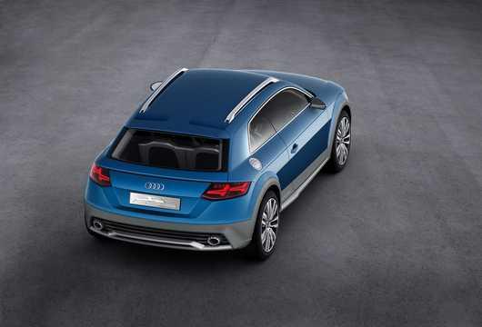 Back/Side of Audi allroad shooting brake 2.0 TFSI + 8.8 kWh quattro S Tronic, 408hp, 2014