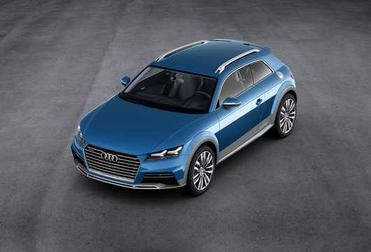 Front/Side  of Audi allroad shooting brake 2.0 TFSI + 8.8 kWh quattro S Tronic, 408hp, 2014
