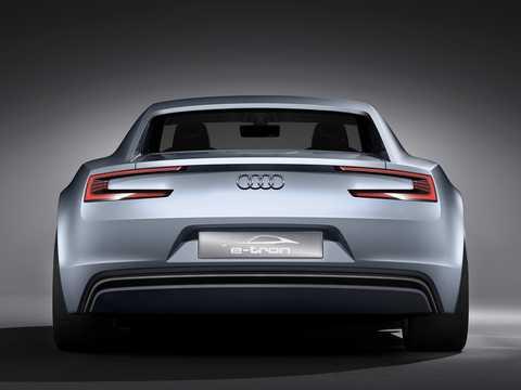 Back of Audi e-Tron Detroit Showcar Electric Single Speed, 204hp, 2010