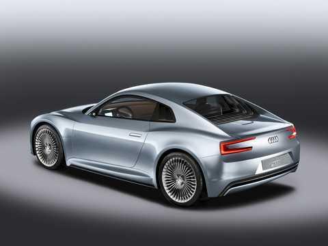 Back/Side of Audi e-Tron Detroit Showcar Electric Single Speed, 204hp, 2010