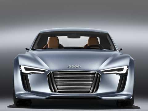 Front  of Audi e-Tron Detroit Showcar Electric Single Speed, 204hp, 2010