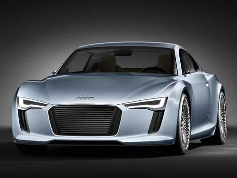 Front/Side  of Audi e-Tron Detroit Showcar Electric Single Speed, 204hp, 2010
