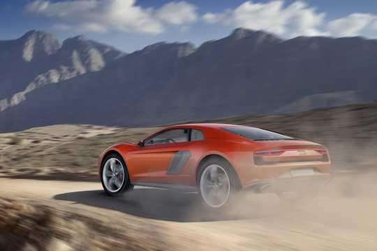 Back/Side of Audi nanuk quattro 5.0 V10 TDI quattro S Tronic, 544hp, 2013