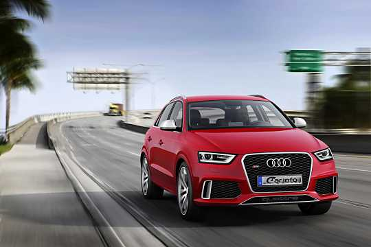 Front/Side  of Audi RS Q3 2.5 TFSI quattro S Tronic, 310hp, 2014