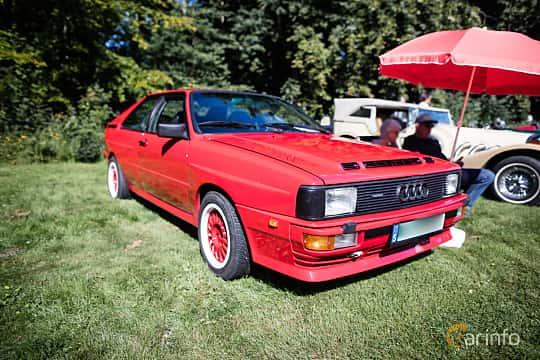 Front/Side  of Audi quattro 2.1 quattro Manual, 200ps, 1983 at Lergökarallyt 2016