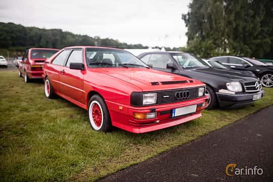 Front/Side  of Audi quattro 2.1 quattro Manual, 200ps, 1983 at Svenskt sportvagnsmeeting 2016