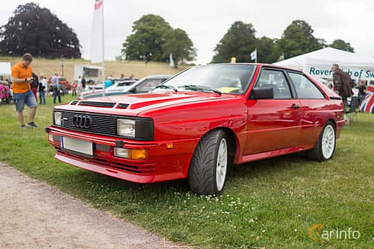 Front/Side  of Audi quattro 2.1 quattro Manual, 200ps, 1983 at Thulinträffen 2015
