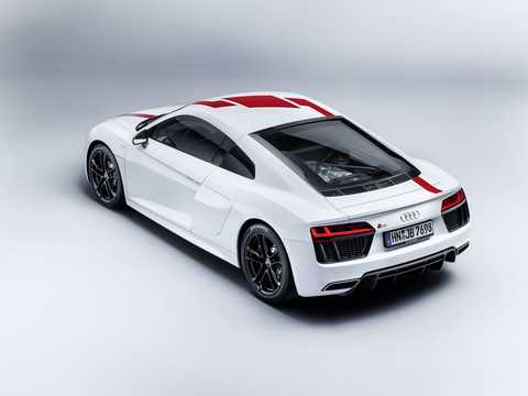 Back/Side of Audi R8 V10 RWS 5.2 V10 FSI S Tronic, 540hp, 2018