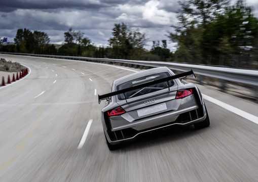 Back of Audi TT Clubsport turbo 2.5 TFSI quattro Manual, 608hp, 2015