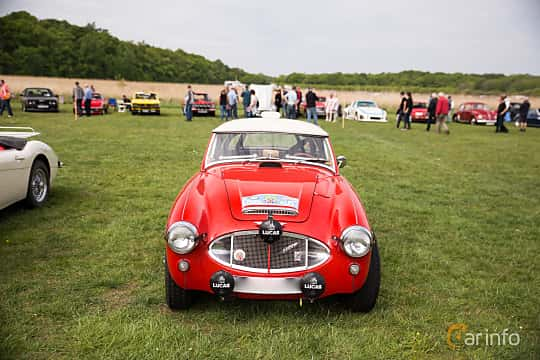 Front  of Austin-Healey 3000 2.9 Manual, 126ps, 1961 at Tjolöholm Classic Motor 2016