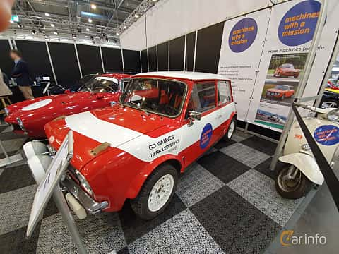 Front/Side  of Austin Mini 1275 GT 1.3 Manual, 59ps, 1975 at Techno Classica Essen 2019