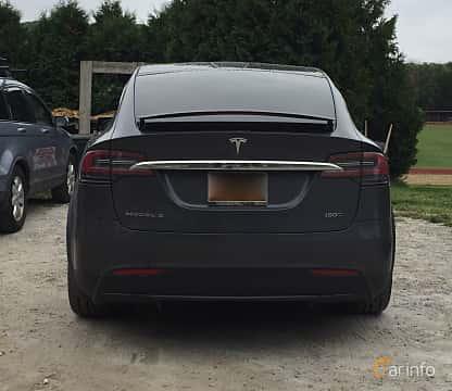 Bak av Tesla Model X 100D 100 kWh AWD Single Speed, 423ps, 2016