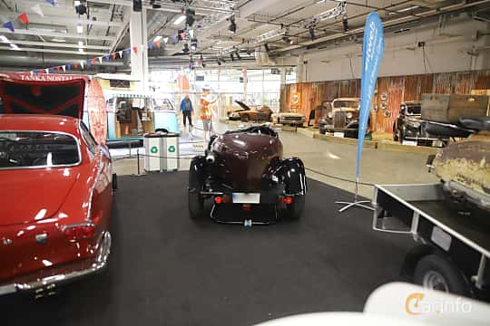 Back of Lagonda Rapier Sports Tourer 1.1 Preselector, 51ps, 1935 at Bilsport Performance & Custom Motor Show 2019