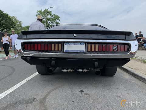 Back of Dodge Charger Hardtop 7.2 V8 284ps, 1973 at Father's Day Classic Car Show New York 2019