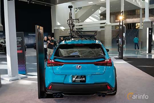 Back of Lexus UX 250h 2.0 CVT, 180ps, 2019 at LA Motor Show 2018