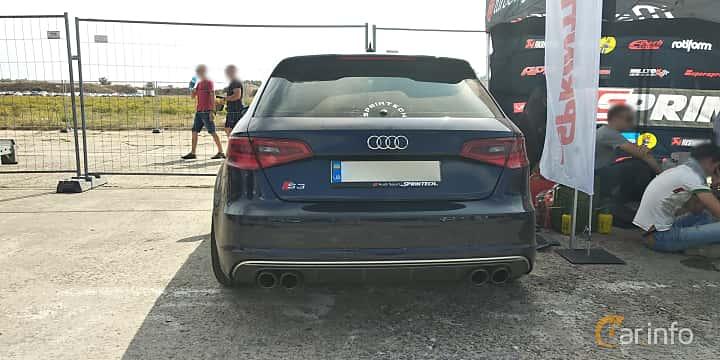 Back of Audi S3 Sportback 2.0 TFSI quattro 310ps, 2016 at Proudrs Drag racing Poltava 2019