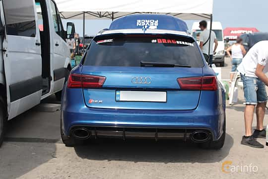 Back of Audi RS 6 Avant 4.0 TFSI V8 quattro TipTronic, 560ps, 2015 at Proudrs Drag racing Poltava 2019
