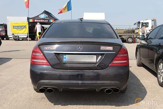 Back of Mercedes-Benz S 500 L 4MATIC  7G-Tronic, 388ps, 2008 at Proudrs Drag racing Poltava 2019