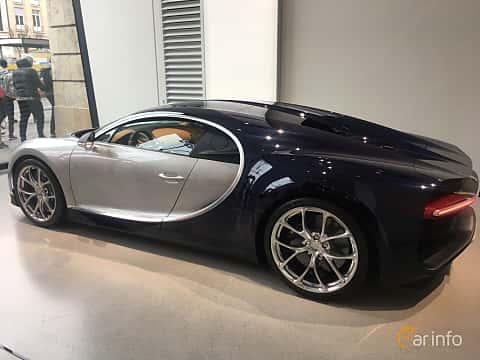 Back/Side of Bugatti Chiron 8.0 W16 DSG Sequential, 1521ps, 2018