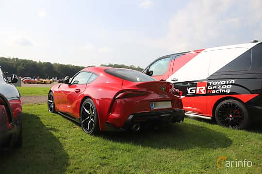 Back/Side of Toyota GR Supra 3.0 Automatic, 340ps, 2019 at Autoropa Racing day Knutstorp 2019