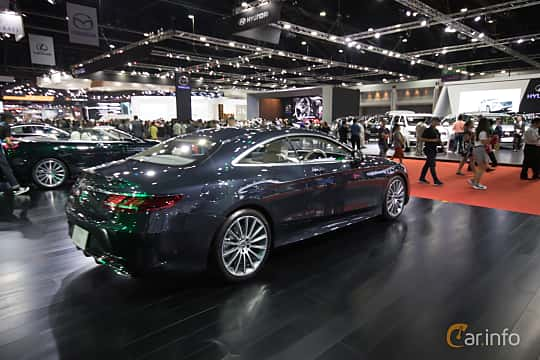 Back/Side of Mercedes-Benz S 560 Coupé  9G-Tronic, 469ps, 2019 at Bangkok Motor Show 2019