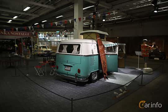 Back/Side of Volkswagen Transporter 1600 Minibus 1.6 Manual, 48ps, 1967 at Bilsport Performance & Custom Motor Show 2019