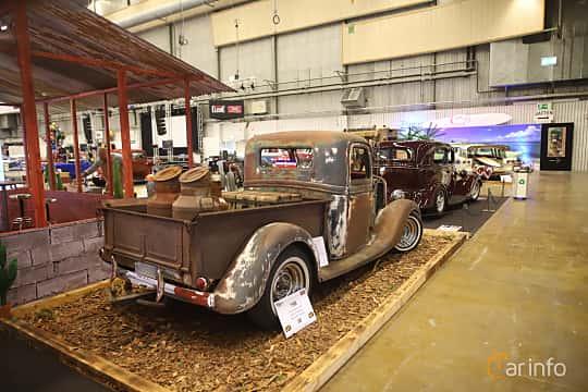 Back/Side of Ford Model 50 Pickup 3.6 V8 Manual, 86ps, 1935 at Bilsport Performance & Custom Motor Show 2019