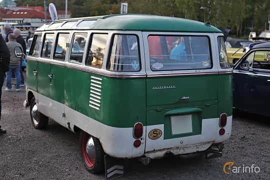 Back/Side of Volkswagen Transporter 1200 Minibus 1.2 Manual, 30ps, 1957 at Kungälvs Kulturhistoriska Fordonsvänner  2019 Torsdag vecka 35