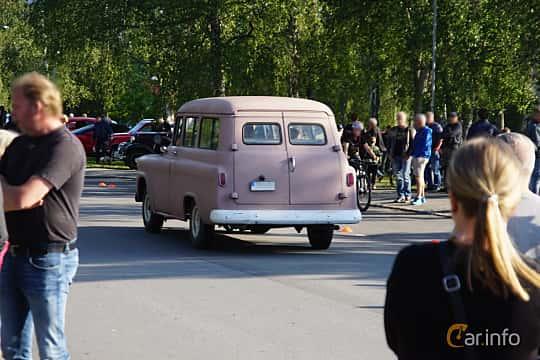 Back/Side of Chevrolet Suburban Carryall 4.6 V8 Automatic, 162ps, 1959 at Onsdagsträffar på Gammlia Umeå 2019 vecka 28