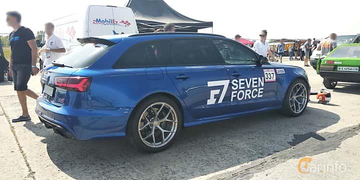Back/Side of Audi RS 6 Avant 4.0 TFSI V8 quattro TipTronic, 560ps, 2015 at Proudrs Drag racing Poltava 2019