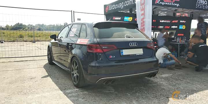 Back/Side of Audi S3 Sportback 2.0 TFSI quattro 310ps, 2016 at Proudrs Drag racing Poltava 2019