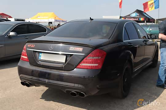 Back/Side of Mercedes-Benz S 500 L 4MATIC  7G-Tronic, 388ps, 2008 at Proudrs Drag racing Poltava 2019