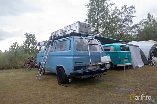 Back/Side of Volkswagen Transporter 2.0 70ps, 1981 at West Coast Bug Meet 2019