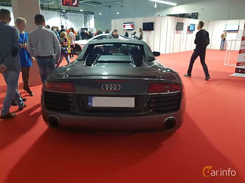 Back of Audi R8 Spyder at Warsawa Motorshow 2018