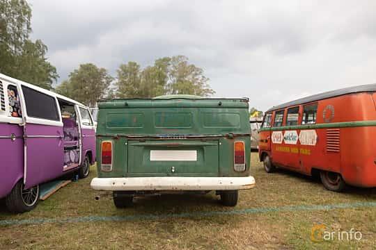 Back of Volkswagen Transporter 1600 Pickup 1.6 Manual, 50ps, 1972 at West Coast Bug Meet 2019