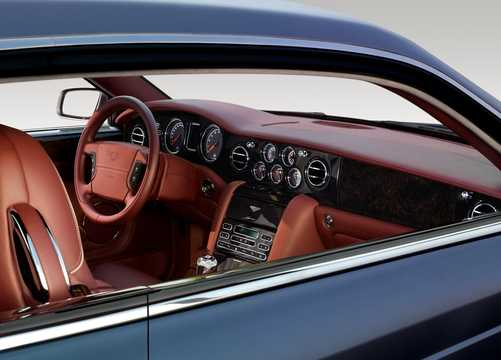 Interior of Bentley Brooklands 6.75 V8  Automatic, 537hp, 2008