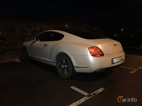 Back/Side of Bentley Continental GT 6.0 W12 Automatic, 560ps, 2008