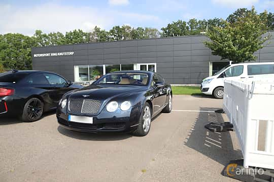 Front/Side  of Bentley Continental GT 6.0 W12 Automatic, 560ps, 2006 at Autoropa Racing day Knutstorp 2019