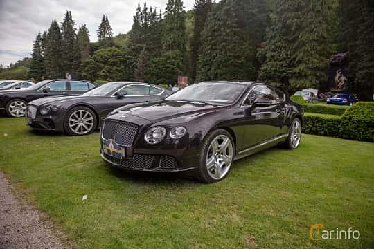 Front/Side  of Bentley Continental GT 6.0 W12 Automatic, 575ps, 2012 at Rolls-Royce och Bentley, Norrviken Båstad 2019
