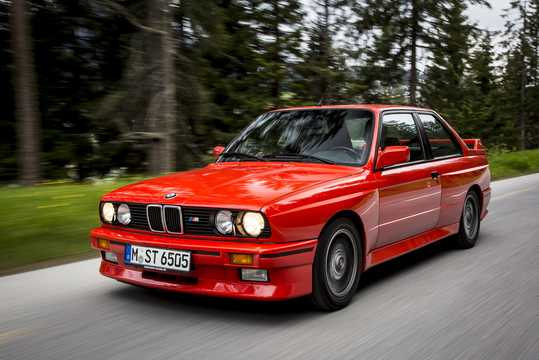 Front/Side  of BMW M3  Manual, 195hp, 1986