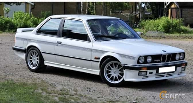 Front/Side  of BMW 3 Series 2-door Sedan 1988